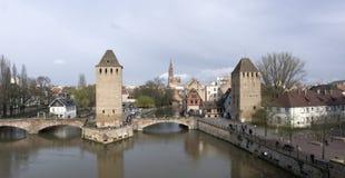 Panoramic Strasbourg scenery Stock Photo
