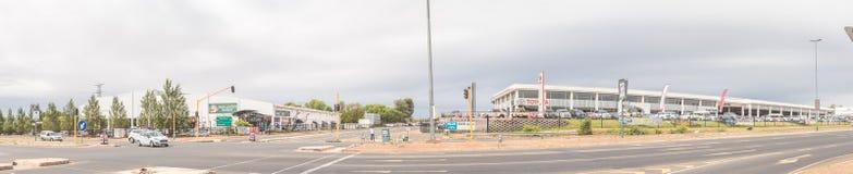 Panoramic street scene in Bloemfontein Royalty Free Stock Image