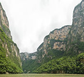 Panoramic of Sumidero Canyon Royalty Free Stock Photo
