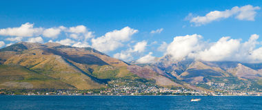 Panoramic summer landscape of Gaeta bay Stock Images