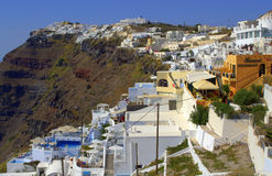 Panoramic summer view from Santorini,Greece Stock Image