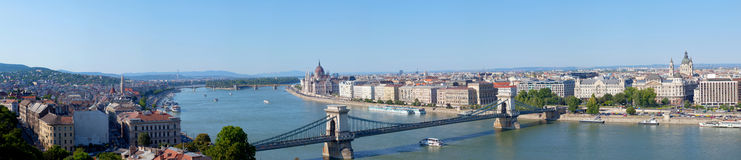 Panoramic summer view to Budapest Royalty Free Stock Photos