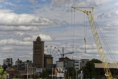 Panoramic Summer View to Chelyabinsk city High-res stock photography