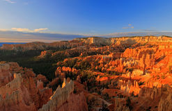 Panoramic sunrise landscape in Bryce Canyon Royalty Free Stock Image
