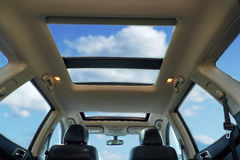 Panoramic Sunroof. On a sunny day royalty free stock image