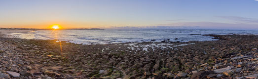 Panoramic Sunset Atlantic Ocean view at Dar Bouazza beach Stock Images