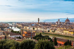 Panoramic sunset Florence Royalty Free Stock Images
