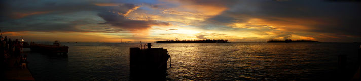 Panoramic sunset in Key West Royalty Free Stock Image