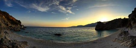 Panoramic sunset Stock Image