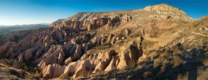 Panoramic Sunset View in Cappadocia, Turkey Stock Images