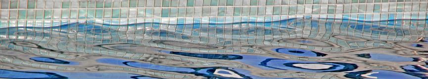 Panoramic swimming pool strip Stock Photography