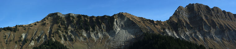 Panoramic Swiss Alps Royalty Free Stock Images
