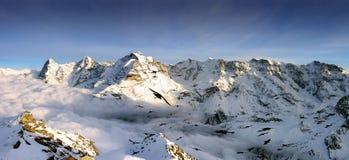 Panoramic Swiss Alps view Royalty Free Stock Photo