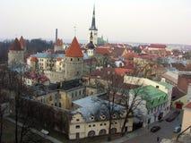 Panoramic Tallinn Oldtown. Panorama of the Oldtown of Tallinn, Estonia Royalty Free Stock Images