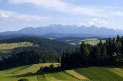 Panoramic Tatra Mountain Royalty Free Stock Photos