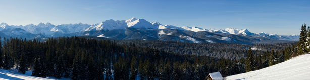 Panoramic Tatra Mountains Royalty Free Stock Images