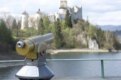 Panoramic telescope. In Nidzica (Poland Royalty Free Stock Photos