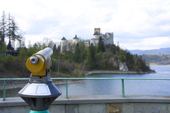 Panoramic telescope. In Nidzica (Poland Stock Images