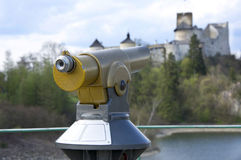 Panoramic telescope. In Nidzica (Poland Royalty Free Stock Images