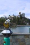 Panoramic telescope. In Nidzica (Poland Royalty Free Stock Photo