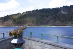 Panoramic telescope. In Nidzica (Poland Stock Image