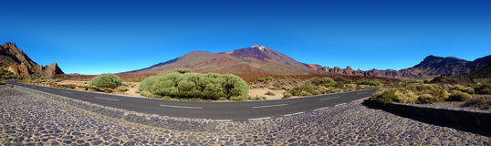 Panoramic tenerife landscape with teide Royalty Free Stock Photo