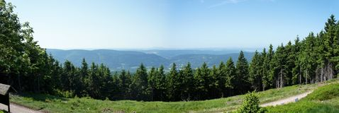 Panoramic of the Thuringian Forest Royalty Free Stock Photos