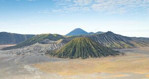 Panoramic timelapse of the Bromo volcano and the Tengger Massif