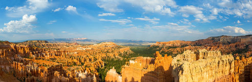 Panoramic top view on Bryce Canyon National Park. With skyline, Utah, USA Stock Image