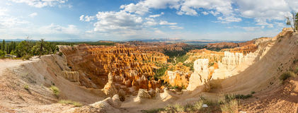 Panoramic top view on Bryce Canyon National Park. With skyline, Utah, USA Royalty Free Stock Images