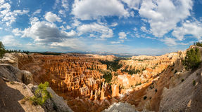 Panoramic top view on Bryce Canyon National Park. With skyline, Utah, USA Stock Photography