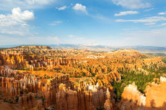 Panoramic top view on Bryce Canyon National Park. With skyline, Utah, USA Royalty Free Stock Photo