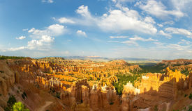 Panoramic top view on Bryce Canyon National Park. With skyline, Utah, USA Stock Images