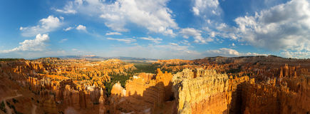 Panoramic top view on Bryce Canyon National Park. With skyline, Utah, USA Royalty Free Stock Image