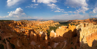 Panoramic top view on Bryce Canyon National Park. With skyline, Utah, USA Stock Photo