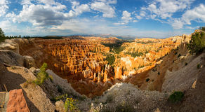 Panoramic top view on Bryce Canyon National Park. With skyline, Utah, USA Royalty Free Stock Photos