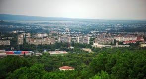 Panoramic top view of the city Nalchik Royalty Free Stock Photos