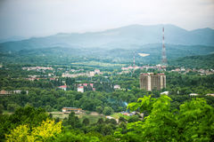Panoramic top view of the city Nalchik Royalty Free Stock Photography