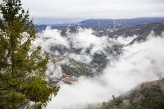 Free Panoramic Top View Of Alps Mountains In Fog And Clouds Royalty Free Stock Photos - 138031268