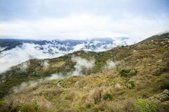 Free Panoramic Top View Of Alps Mountains In Fog And Clouds Royalty Free Stock Photography - 138031277