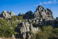 Panoramic Torcal de Antequera 3 Royalty Free Stock Photography