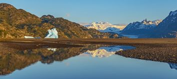 Panoramic Torres del Paine, Patagonia immagini stock
