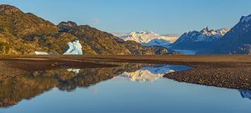 Panoramic Torres Del Paine, Patagonia stockbilder