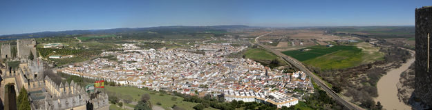 Panoramic of town from the castle Stock Photos
