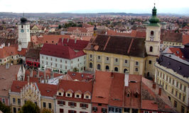 Panoramic town view Stock Photography