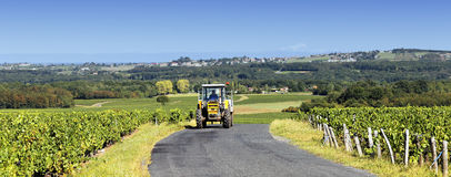 Panoramic tractor Royalty Free Stock Photography