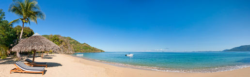 Panoramic tropical beach Royalty Free Stock Photography