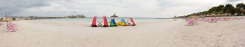 Panoramic Tropical Beach Stock Photography