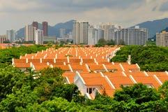Panoramic urban landscape stock photography