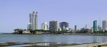 Panoramic urban view of Bombay, India Stock Images